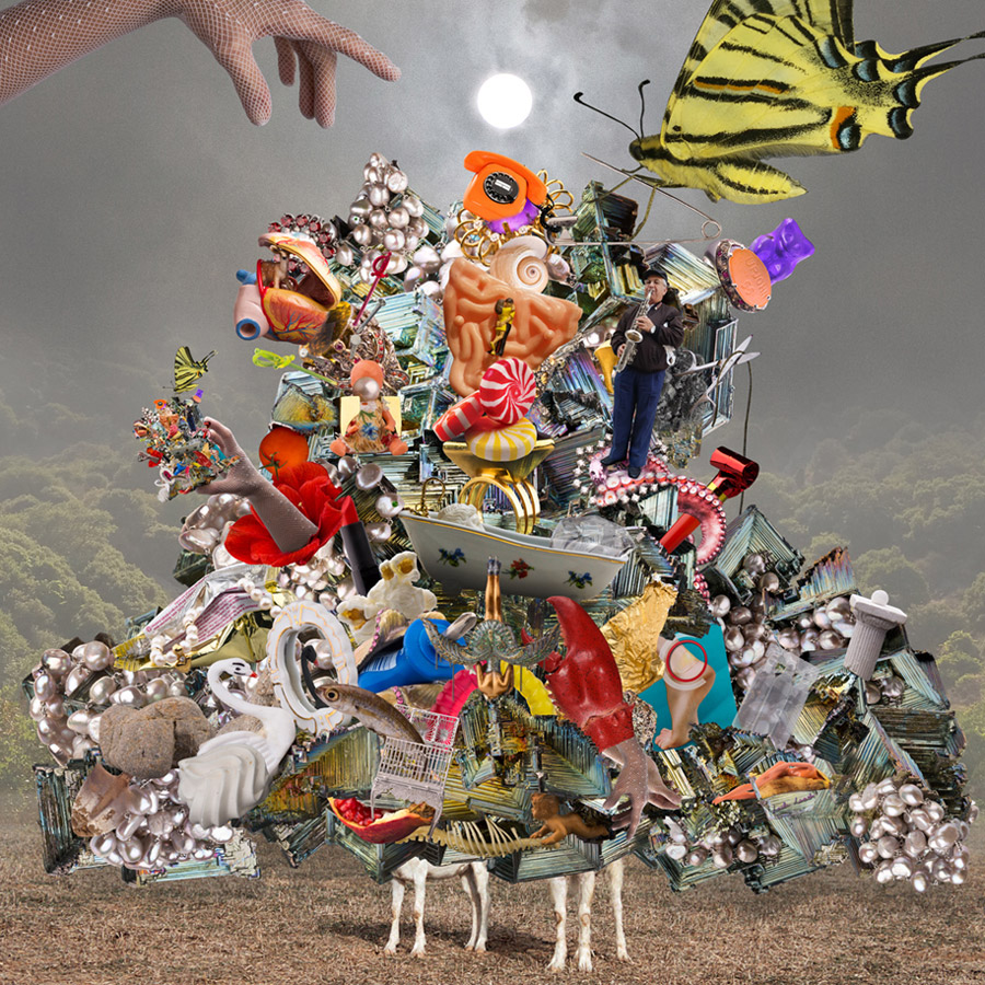Colourful photo collage by Loula Levedi